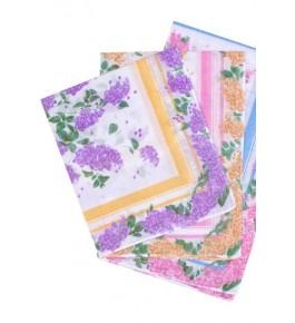 Платки носовые в ассортименте (12 штук) женские