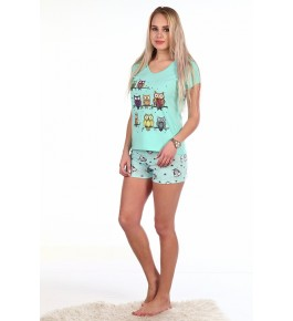 Пижама Совята шорты