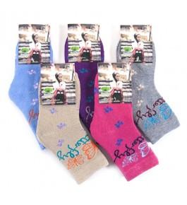 Носки детские махра для девочек 12 шт
