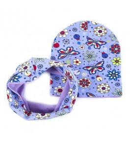 Набор шапка+шарф/хомут детский хлопковый 6