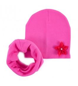 Набор шапка+шарф/хомут детский хлопковый 8