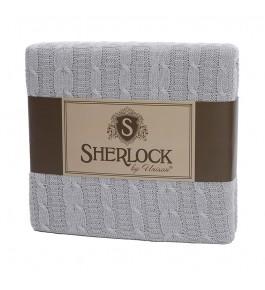 Плед вязанный Sherlocl серый