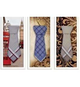 """Сувенирные мужские носовые платки в упаковке """"Галстук"""" 1 шт."""